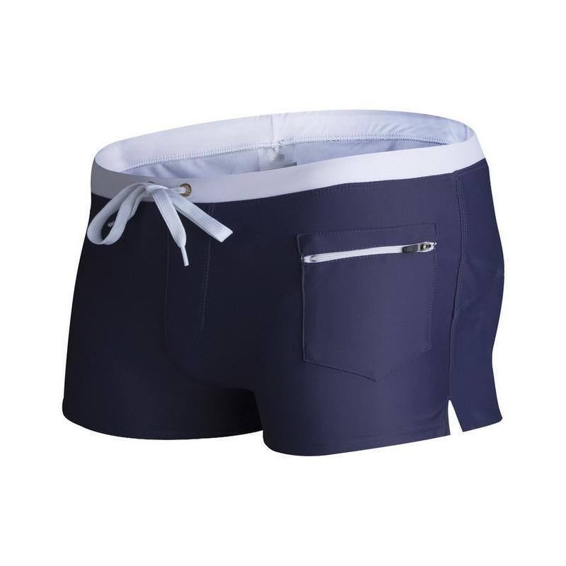 Пляжные мужские шорты боксеры с карманчиком синие опт