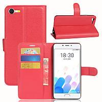 Чехол-книжка Litchie Wallet для Meizu E2 Красный