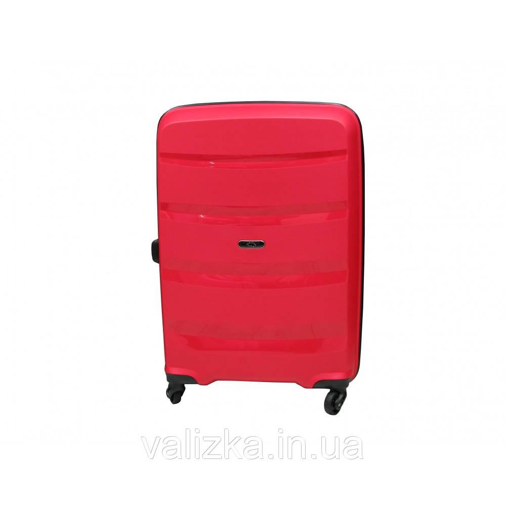 Чемодан из полипропилена пластиковый средний Airtex 229 красный