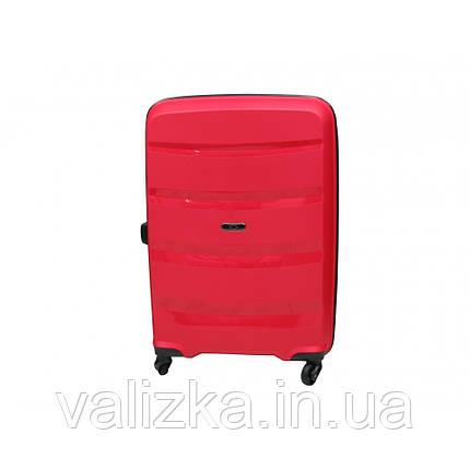 Чемодан из полипропилена пластиковый средний Airtex 229 красный, фото 2