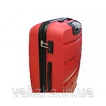 Чемодан из полипропилена пластиковый средний Airtex 229 красный, фото 3