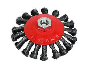 Щетка-крацовка круговая закрученная, 125 мм, Spitce (18-212) шт.