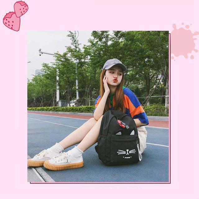 Рюкзак молодежный для девочки Котик Meow