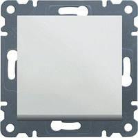 Выключатель одноклавишный (белый) Hager Lumina-2 (1-полюсный)