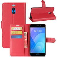 Чехол-книжка Litchie Wallet для Meizu M6 Note Красный