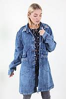 Джинсовая куртка украшена бусинками