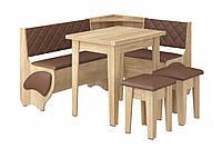 Кухонный уголок Милорд с простым, раскладным столом