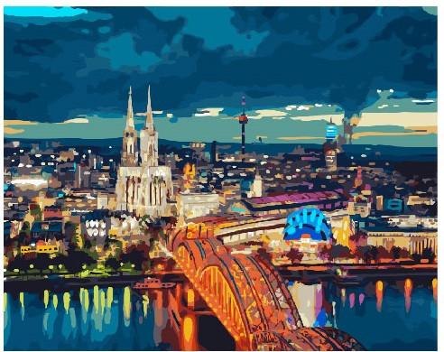 Картина по номерам Панорама города, 40x50 см., Brushme