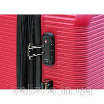 Чемодан из поликарбонат пластиковый средний Airtex 968 красный, фото 3