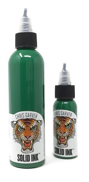 Тату краска SOLID INK GARVER GREEN TIP 1 унц (30мл)
