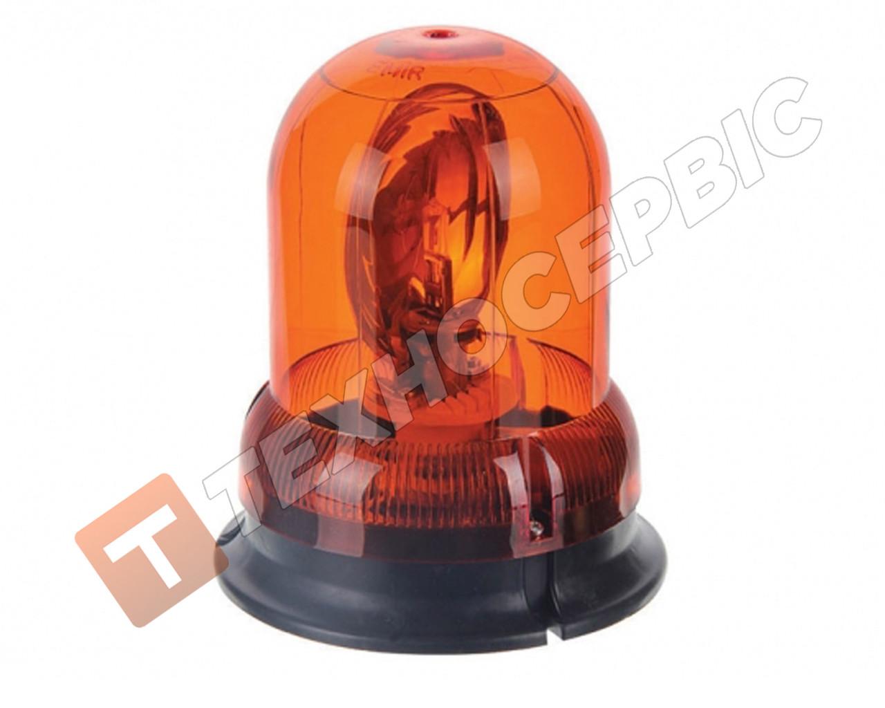 Маячок проблесковый оранжевый 24 вольт 24v со стробоскопом (мигалка) стационарное крепление Турция