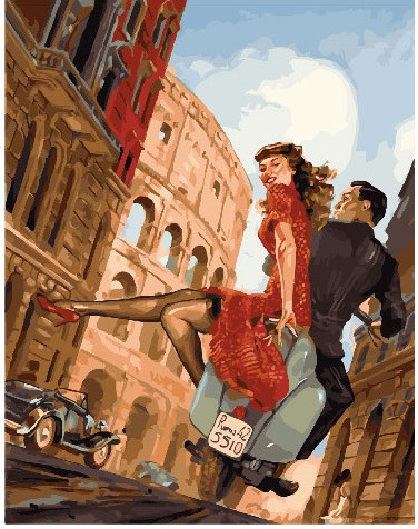 Картина по номерам Побег влюбленных в риме, 40x50 см., Brushme