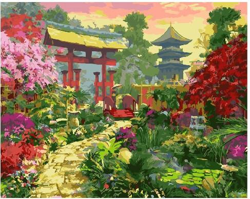 Картина по номерам Ворота в японский сад, 40x50 см., Brushme