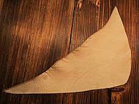 Кожа натуральная для рукоделия Кремовая кремовая 31*14см, №013