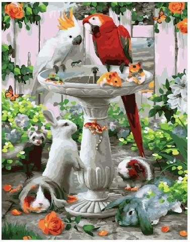 Картина по номерам Чудные животные, 40x50 см., Brushme