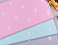 Сатин (хлопковая ткань)  на розовом фоне кактусы новые, фото 3