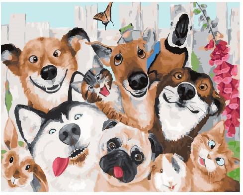 Картина по номерам Животные чудаки, 40x50 см., Brushme