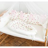 """Гнездышко-кокон для новорожденных """"Pink Ice Cream"""""""