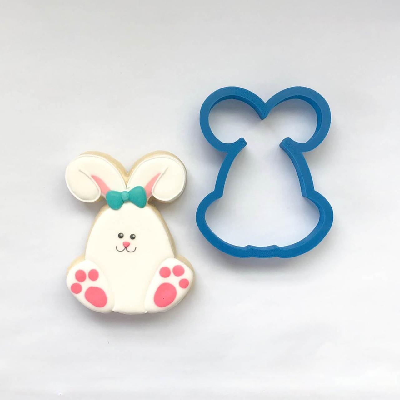 Вырубка маленький кролик, пасхальная вырубка, пасха 2019, зайчик вирубка,пластиковые вырубки для печенья
