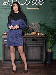 Платье туника 1286 цвета марсала