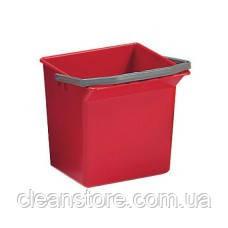 Відро пластикове червоне 6 л, фото 2