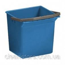 Ведро пластиковое синее 6л, фото 2