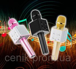 Беспроводной микрофон караоке Bluetooth Tuxun Q7 pro. Микрофон со встроенной колонкой