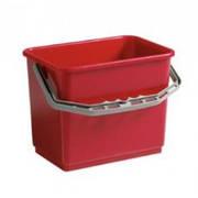 Ведро пластиковое красное 4л