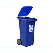 Контейнер для мусора с крышкой зеленый 240л