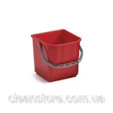 Відро пластик червоне 15 л, фото 2
