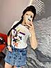 Спідниця-шорти з дьоміна з рваними краями. Розмір:Л-90/92 ХЛ-92/94. Колір: блакитний (0455), фото 3