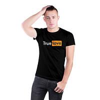 Мужская футболка. Печать на футболке. True love