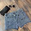 Спідниця-шорти з дьоміна з рваними краями. Розмір:Л-90/92 ХЛ-92/94. Колір: блакитний (0455), фото 10