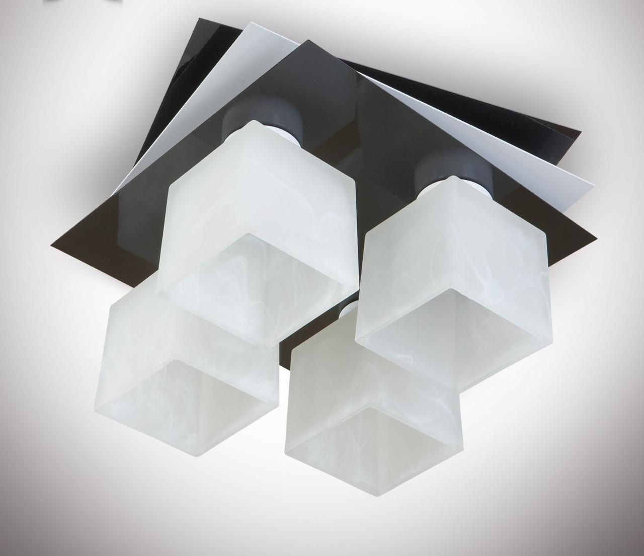 Люстра потолочная металлическая черная 7433-5