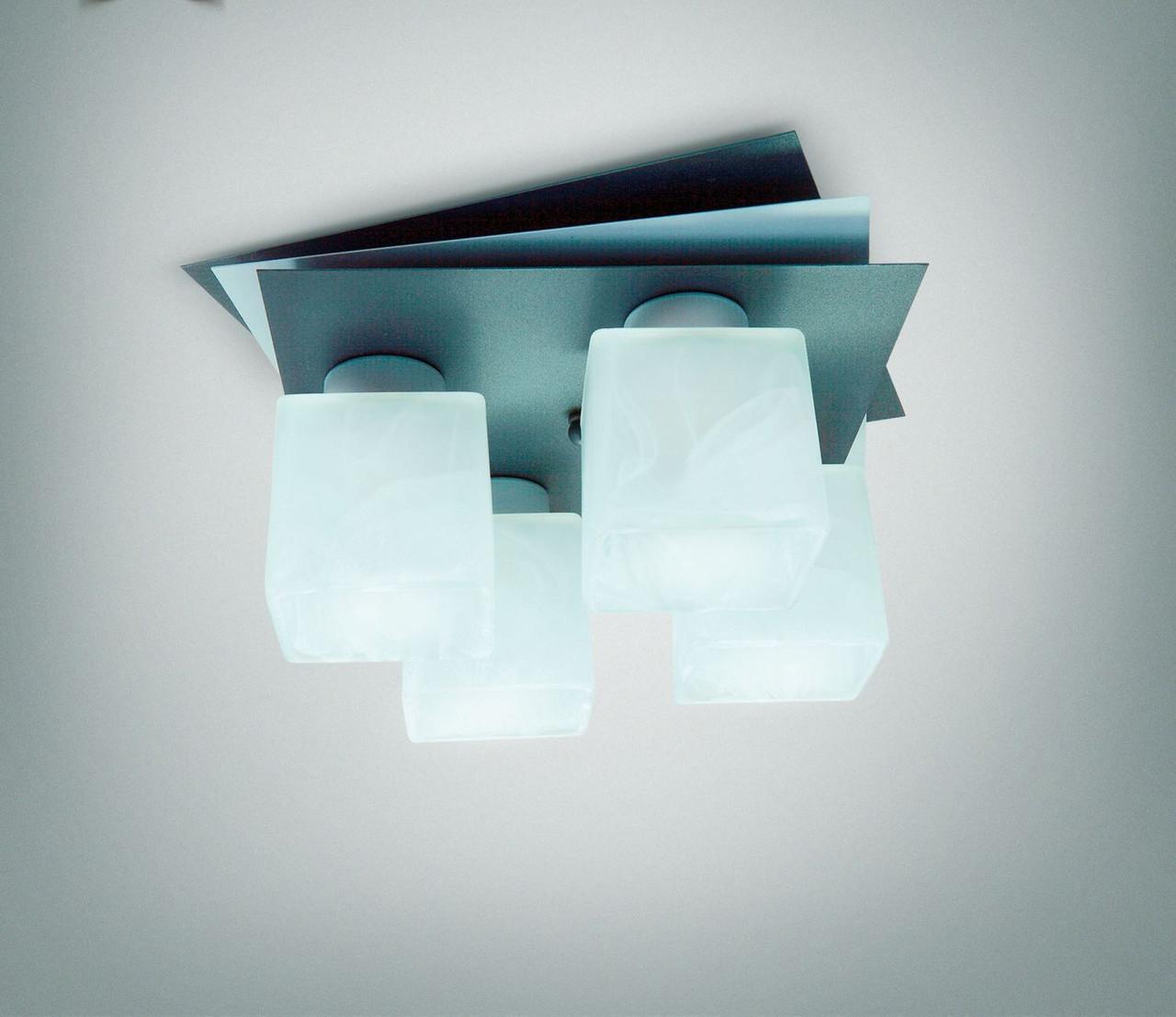 Люстра потолочная металлическая для небольшой комнаты 7433-4