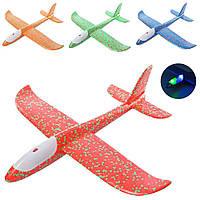 Самолет планер из пенопласта, 48 см, Свет, на бат(таб)