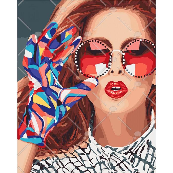 Картина по номерам Модниця, 40x50 см., Идейка