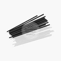 Палички для кейк-попсов - Чорні і білі - 15 см, 50 шт