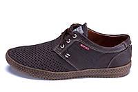 Мужские кожаные летние туфли, перфорация Batich Сoffee, фото 1