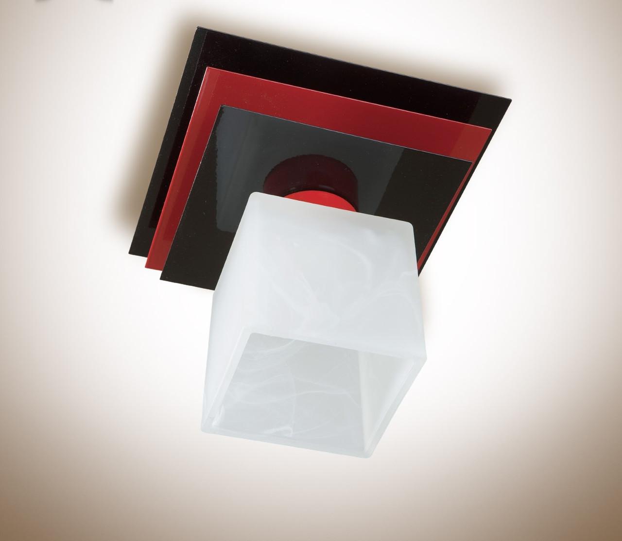 Люстра потолочная металлическая одноламповая  10111-2