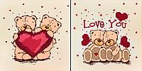 """Схема для вышивания бисером """"Love you"""""""