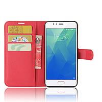 Чехол-книжка Litchie Wallet для Meizu M5S Красный