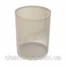 Ажур-серебро Стальная офисная корзина для мусор серебро