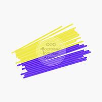 Палички для кейк-попсов - Бузкові і жовті - 15 см, 50 шт