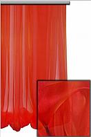 Легкая прозрачная ткань Органза с утяжелителем внизу , пламенный