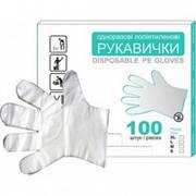 Перчатки полиэтиленовые (M)