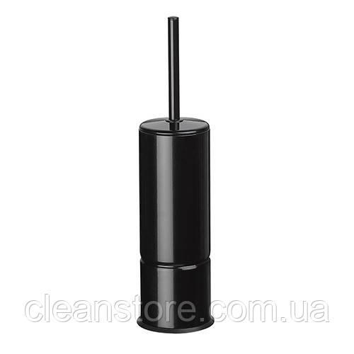 Щетка для унитаза металл чорный напол/настен