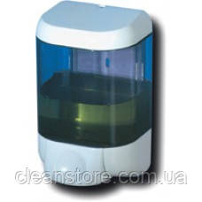 Дозатор жидкого мыла пластик прозрачный/белый, фото 2