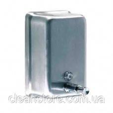 Дозатор жидкого мыла нержавейка  матовый 1,2 л, фото 2