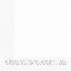 Салфетки 3-слойные 33х33 (20шт) белые МАРГО